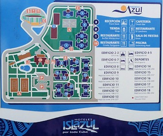 Islazul Aparthotel Azul Resort Map Layout
