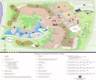 JW Marriott Guanacaste Resort & Spa Map Layout