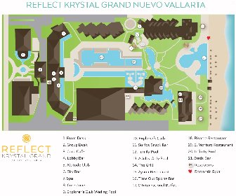 Reflect Krystal Grand Nuevo Vallarta Resort Map Layout