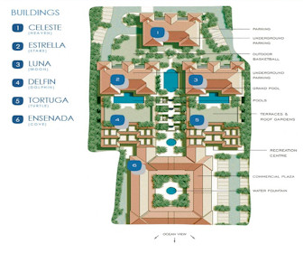 La Vista Azul Resort Map Layout