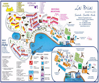 Las Brisas Huatulco Resort Map Layout