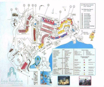 Las Hadas Golf Resort & Marina Map Layout