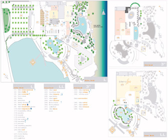 Le Blanc Spa Resort Map Layout