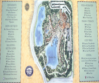 Loews Portofino Bay Hotel at Universal Orlando Map Layout