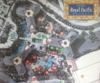 Loews Royal Pacific Resort at Universal Orlando Map Layout
