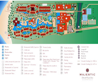 Majestic Colonial Resort Map Layout
