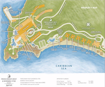 Marriott Frenchman's Reef & Morning Star Resort Map Layout
