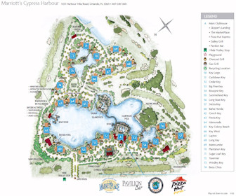 Marriott's Cypress Harbour Map Layout