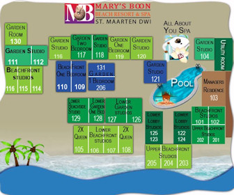 Mary's Boon Beach Resort Map Layout