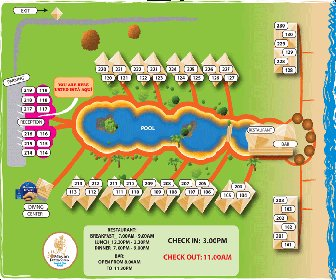 Mayan Princess Beach & Dive Resort Map Layout