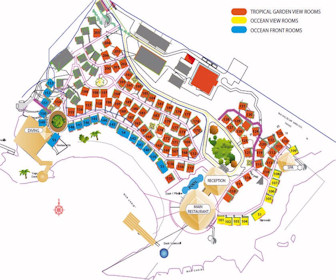 Media Luna Resort  Map Layout