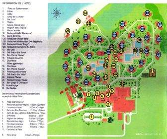 Melia Jardines del Rey Resort Map layout