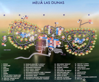 Melia Las Dunas Resort Map Layout