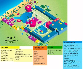 Melia Puerto Vallarta All Inclusive Resort Map Layout