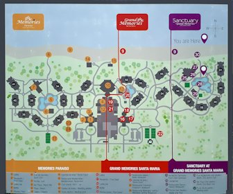 Grand Memories Santa Maria Resort Map Layout