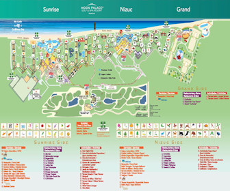 Moon Palace Golf & Spa Resort Map Layout