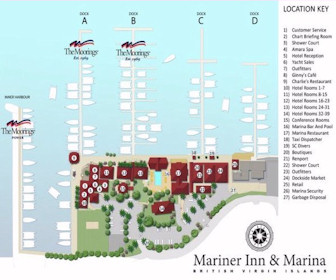 Moorings Mariner Inn Hotel Map Layout