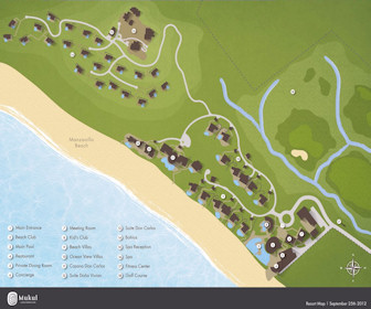 Mukul Beach Golf & Spa Map Layout