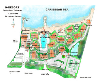 Mangos Jamaica Resort Map Layout