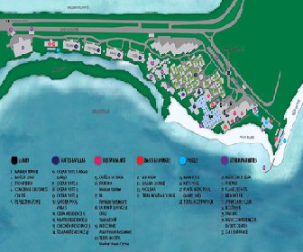 NIZUC Resort and Spa Map Layout