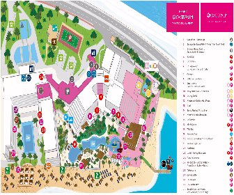 Grand Oasis Palm and Oasis Palm Cancun Resort Map Layout