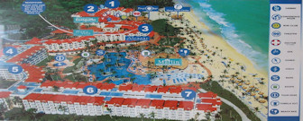 Occidental Caribe Resort Map