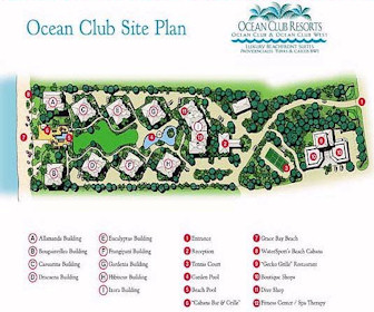 Ocean Club Resort Map Layout