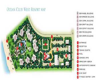 Ocean Club West Resort Map Layout