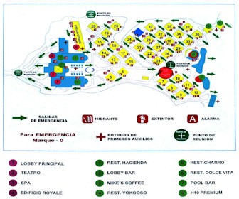 Ocean Maya Royal Resort Map Layout