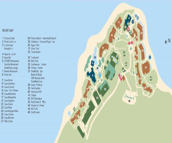 One & Only Palmilla Resort Map Layout
