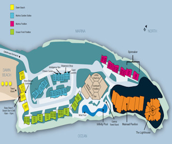 Oyster Bay Beach Resort Map Layout