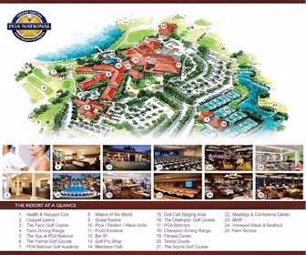 PGA National Resort & Spa Map Layout