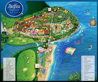 Pacifica Resort Ixtapa Map Layout