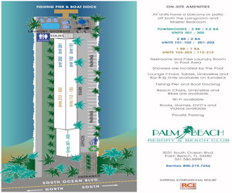 Palm Beach Resort & Beach Club Map Layout