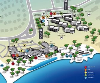 Papagayo Curacao Resort Map Layout