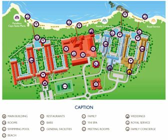 Paradisus Los Cayos Resort Map Layout