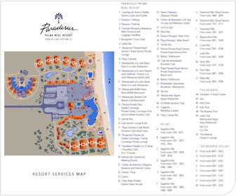 Paradisus Palma Real Resort Map Layout