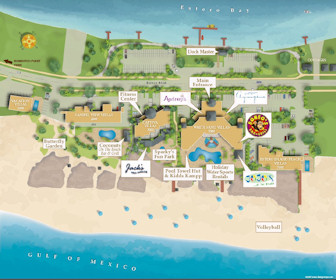 Pink Shell Beach Resort & Marina Map Layout