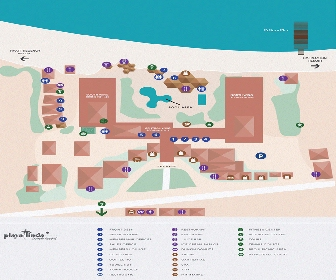 Playa Linda Beach Resort Map Layout