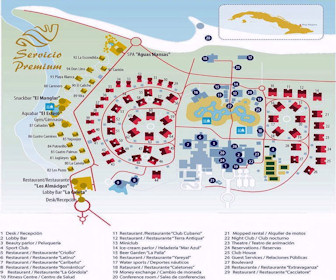 Hotel Playa Pesquero Resort Map Layout