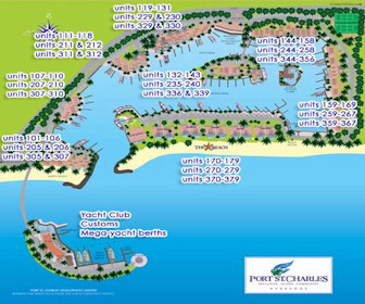 Port St.Charles Resort Map Layout