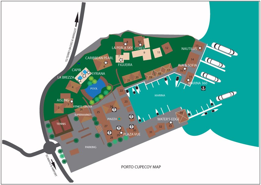 Porto Cupecoy Resort Map Layout