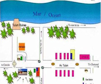 Posada Los Mapaches Resort Map Layout