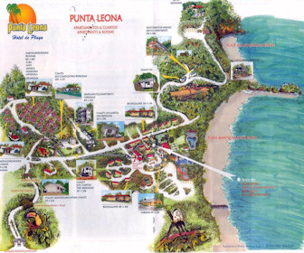 Punta Leona Hotel & Club Map Layout