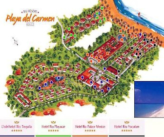RIU Complex Resort Map Layout