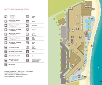 Riu Cancun Resort Map Layout