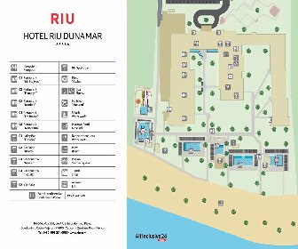 Riu Dunamar Resort Map layout