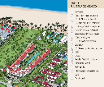 RIU Palace Mexico Resort Map Layout