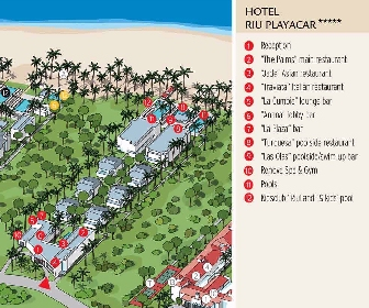 RIU Playacar Resort Map Layout