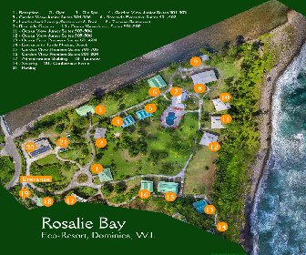 Rosalie Bay Resort Map Layout